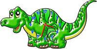 """Фигурные детские настенные часы """"Крокодильчик"""" 30х60см"""
