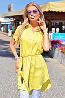 Женское яркое платье-рубашка на пуговицах, фото 1