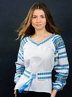Вышитая рубашка женская с поясом, фото 1
