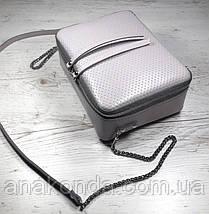 63-3 Сумка женская кросс-боди из натуральной кожи, пастельно-сиреневая сумка кожаная сумка светлая лиловая , фото 2