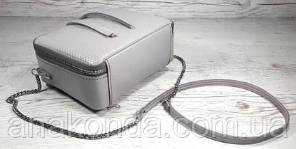 63-3 Сумка женская кросс-боди из натуральной кожи, пастельно-сиреневая сумка кожаная сумка светлая лиловая , фото 3