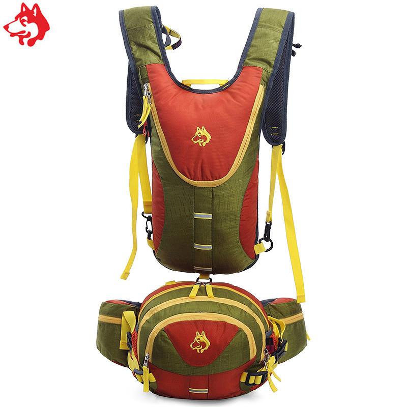 Рюкзак для гидратора  с сумкой на пояс зеленый