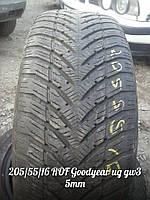 Зимние шины Б/У  205/55/16 ROF Goodyear UG GW3 протектор  5мм