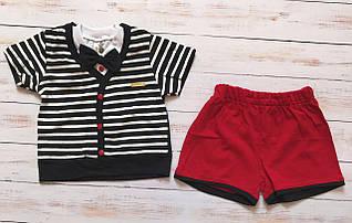 Комплект летний на мальчика Полоска  (шорты, футболка)  68, 80, 86 см