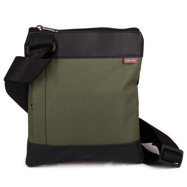 сумка мужская через плечо зеленая