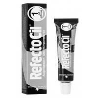 Рефектоцил №1 Черная - краска для бровей и ресниц RefectoCil 15 мл
