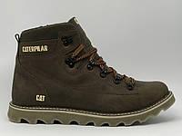 Ботинки мужские зимние Cat 8162_4 YH коричневые реплика
