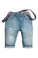 Детские джинсы с подтяжками  1,5-2 года, фото 1