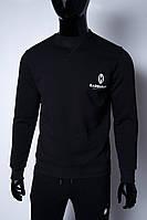 Кофта свитшот трикотажная утепленная мужская Barbarian 2342_1 черный