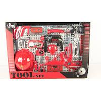 Набор игрушечных инструментов с каской T117B