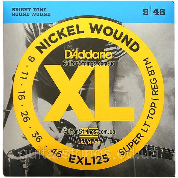 Струны D'Addario EXL125 Nickel Wound 9-46