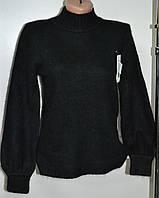 Женский зимний свитер черного цвета ангора