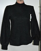 Женский зимний свитер черного цвета ангора, фото 1