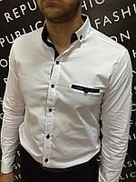 Рубашка мужская белая Paul Smith 6194