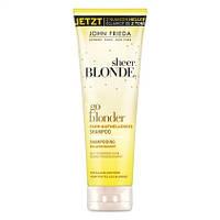 "John Frieda Sheer Blonde Farb-Aufhellendes Shampoo ""go blonder"" - Осветляющий шампунь для волос"