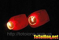 Небесный фонарик Сердце красное 150 см