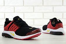 Кроссовки мужские Найк Nike Air Presto Black/Red, фото 2