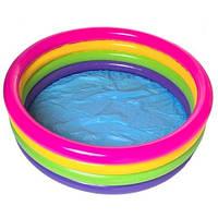 """Детский надувной бассейн """"большая радуга"""" intex 56441 (168х46 см) ri kk hn"""
