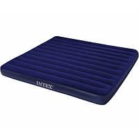Надувной ортопедический двуспальный матрас-кровать intex 68755 (183х203х22 см) hn ri kk