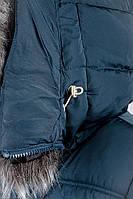 Куртка женская зимняя стильная 08P057 (Темно-синий)