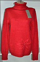 Зимний женский свитер красного цвета, фото 1