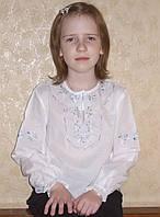 """Блуза дівоча (Вишиванка) """"Квіточка"""", довгий рукав, батист, фото 1"""