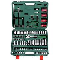 """Набор торц. головок 1/4""""DR4-14мм и 1/2""""DR10-32 мм,106 предм. (TK-106) HANS"""