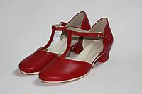 Туфли для танца красные