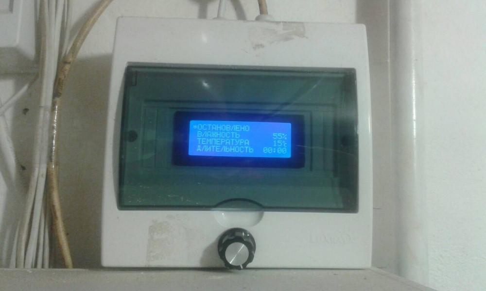 Щит автоматики і блок контролера для сушіння фруктів і овочів