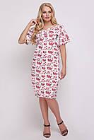 Платье женское Бриджит газета красное, фото 1