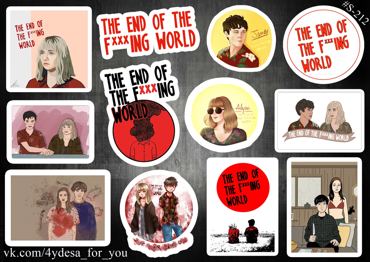 Stickers Pack The End Of The F *** ing World, Конец ***го Мира #212