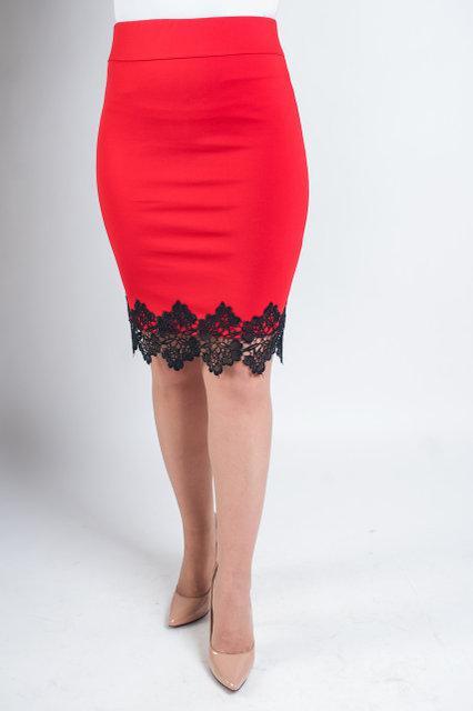 2a4219b8797 Красивая яркая юбка карандаш красного цвета
