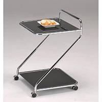 """Сервировочный столик со стеклянной столешницей """"SC-5103BK"""""""