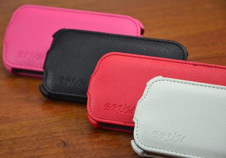 Кожаный чехол-флип BRUM для Samsung S3 mini i8190 черный, фото 2