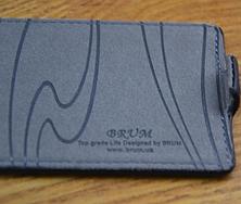 Кожаный чехол-флип BRUM для Samsung S3 mini i8190 черный, фото 3