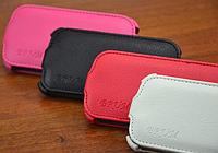 Кожаный чехол-флип BRUM для Samsung S3 mini i8190 красный