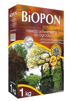 Biopon удобрение осеннее универсальное 1кг Гранулированное комплексное , фото 2