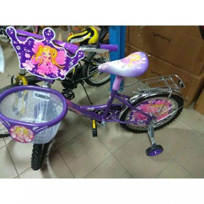 Детский двухколесный велосипед с корзинкой Азимут Принцесса NEW 20 дюй