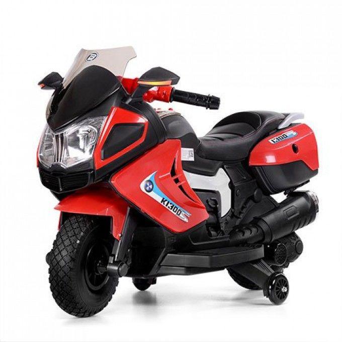 Детский мотоцикл Bambi Красный (M 3625EL-3) с кожаным сиденьем