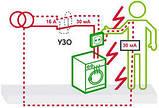 Диференційний вимикач (ПЗВ) 11453 ВД63, 2P 40А 300мА, фото 5
