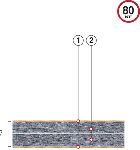 Тонкий матрас Велам Футон Фаворит 90x200 см (41417)