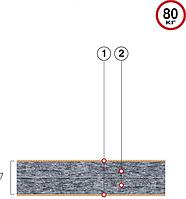 Тонкий матрас Велам Футон Фаворит 80x200 см (41416)
