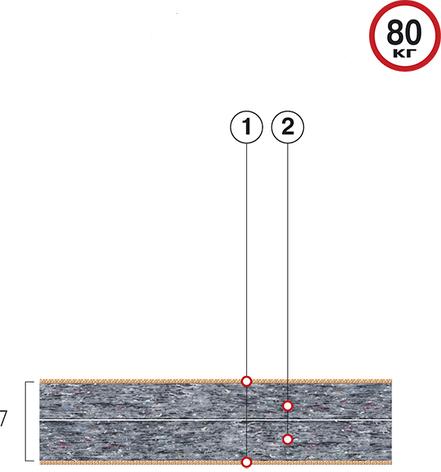 Тонкий матрас Велам Футон Фаворит 70x190 см (46034), фото 2