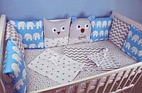 Детский набор бортиков в кроватку
