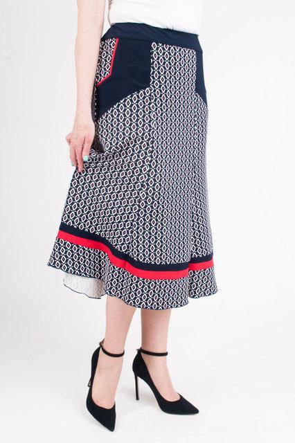 Красивая трикотажная юбка больших размеров, длиной миди