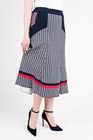 Красивая трикотажная юбка больших размеров, длиной миди, фото 1