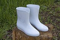 Сапоги резиновые женские белые