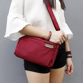 Женская повседневная сумочка, Бордо ( сумка городская )