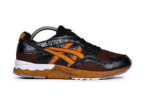 Мужские кроссовки Asics Gel Lyte V, Черно-коричневые, Кожа, сетка