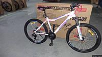 Спортивный велосипед Алюминиевый Crosser Trinity 26  дюймов, дисковые тормоза. Белый.